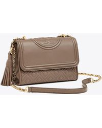 5461850aa92 Tory Burch Duet Chain Woven Convertible Shoulder Bag in Red - Lyst