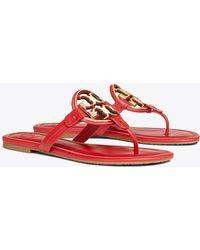 ba71ba8a4 Tory Burch - Women s Metal Miller Thong Sandals - Lyst