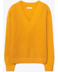 Tory Burch - Ribbed Wool And Cashmere-blend Sweater - Lyst