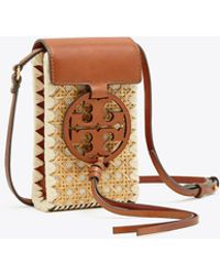 a43d9d1a12e1 Tory Burch Genuine Leather Miller Cross-body Bag in Brown - Lyst