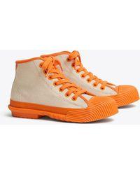 Tory Burch Buddy High-top Sneakers - Orange