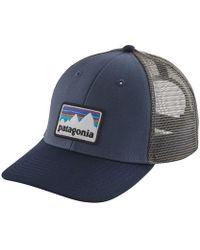 Lyst - Patagonia Shop Sticker Trucker Hat in Blue for Men 7f3e7167223f