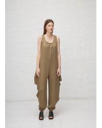 Dusan - Draped Drape Side Jumpsuit - Lyst