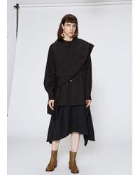 Y's Yohji Yamamoto - Long Sleeve Shoulder Drape Top - Lyst