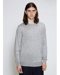 Jil Sander - Crew Neck Long Sleeve Sweater - Lyst