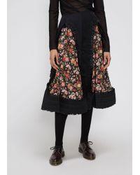 Comme des Garçons - Floral Skirt - Lyst