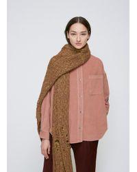 Rachel Comey - Taupe Pyramid Knit Scarf - Lyst