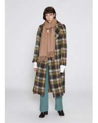 Toga - Mohair Check Long Coat - Lyst
