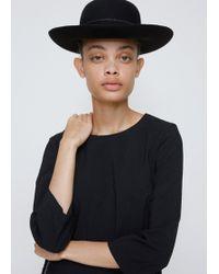 Comme des Garçons - Black Wide Brim Bowler Hat - Lyst