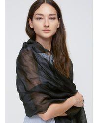 Issey Miyake - Black Silk Layer Stole - Lyst