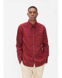 Cobra S.C. - Cotton Linen Hidden Button Shirt - Lyst