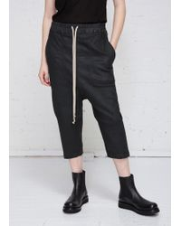 DRKSHDW by Rick Owens - Cropped Drawstring Jeans - Lyst
