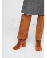 Maison Margiela - Light Brown Leather Double Layer Tabi Knee Boot - Lyst
