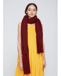 Rachel Comey - Wine Pyramid Knit Scarf - Lyst