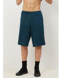Robert Geller - Blue Neo Knit Shorts - Lyst