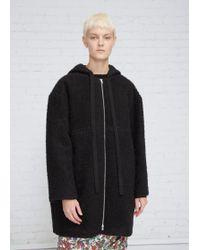 Marni - Black Wool Hooded Jacket - Lyst