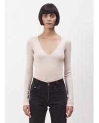 Hesperios - Taupe Tallulah Bodysuit - Lyst