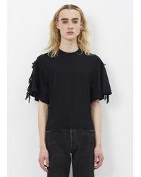 Toga Pulla - Black Cotton Jersey T-shirt - Lyst