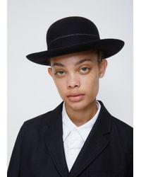 Comme des Garçons - Navy Short Brim Bowler Hat - Lyst
