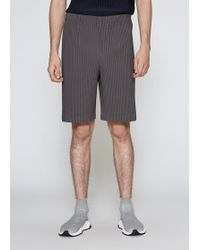 Homme Plissé Issey Miyake - Pleated Short - Lyst