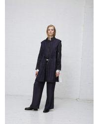 Ann Demeulemeester   Tie Front Stripe Coat   Lyst
