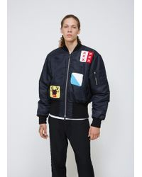 J.W. Anderson | Embroidered Satin Bomber | Lyst