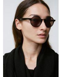 Yohji Yamamoto - Half Rim Round Sunglasses - Lyst