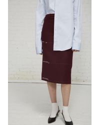 Vetements - Milanese Skirt With Lengths Embroidered - Lyst