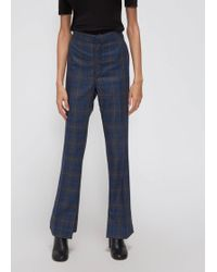 Toga - Staggered Cuff Check Plaid Wool Trousers - Lyst