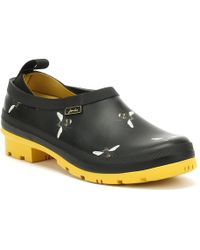 Joules - Womens Black Botanical Bees Pop-on Wellington Clogs - Lyst