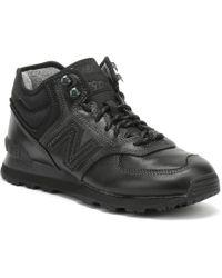 New Balance - Mens 574 Black Classic Sneakers - Lyst