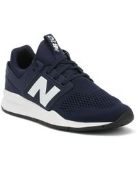 New Balance - Mens 247 Pigment Blue / White Trainers - Lyst
