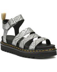 Dr. Martens - Dr. Martens Womens Silver Vegan Blaire Sandals - Lyst