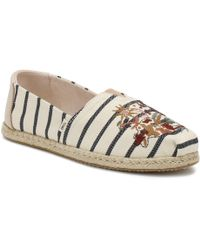 TOMS - Floral Embroidery Striped Women's Classics - Lyst