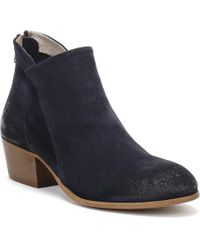 Hudson Jeans - Women Navy Apisi Suede Boots - Lyst