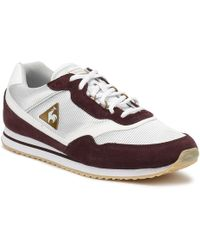 Le Coq Sportif - Womens Fudge/ Old Brass Louise Suede Trainers - Lyst
