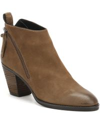 Cara Womens Bark Brown Nubuck Scout Ankle Boots