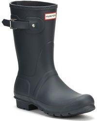 HUNTER - Original Womens Navy Short Wellington Boots - Lyst