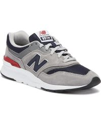New Balance - 997 Mens Grey / Navy Trainers - Lyst