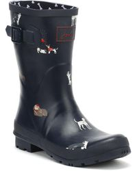 Joules - Womens French Navy Dogs Molly Wellies - Lyst
