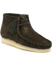 Clarks - Originals Wallabee Mens Dark Green Boots - Lyst