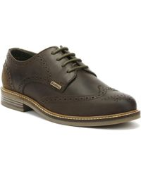 Barbour - Bamburgh Mens Choco Brown Brogue Shoes - Lyst