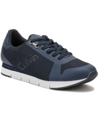 Calvin Klein Jeans - Mens Blue Jaques Mesh Trainers - Lyst