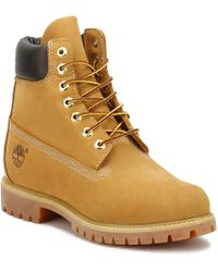 Timberland | Mens Wheat Premium 6 Inch Nubuck Leather Boots | Lyst