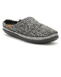 TOMS   Womens Black / White Sweater Knit Ivy Slippers   Lyst