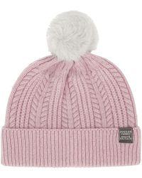 Joules - Bobble Dusk Pink Hat - Lyst
