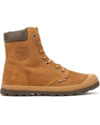 Palladium - Womens Brown Sugar Knit Pampa Hi Cuff Boots - Lyst