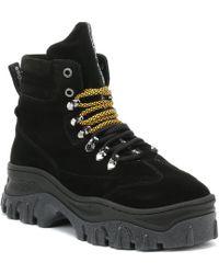 Bronx - Jaxstar Womens Black Hi-top Chunky Hiker Boots - Lyst