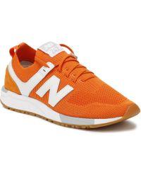 New Balance - Mens Orange 247 Trainers - Lyst