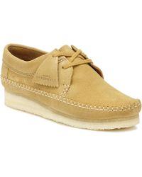 Clarks - Originals Womens Oak Weaver Suede Shoes - Lyst